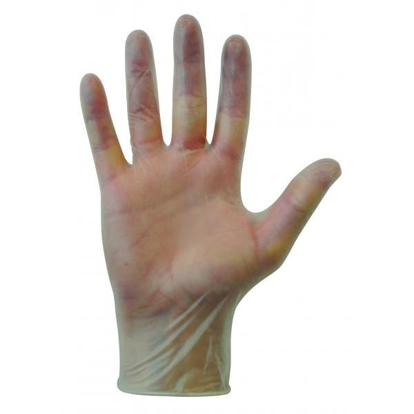 Clear Vinyl Powder Free Disposable Gloves