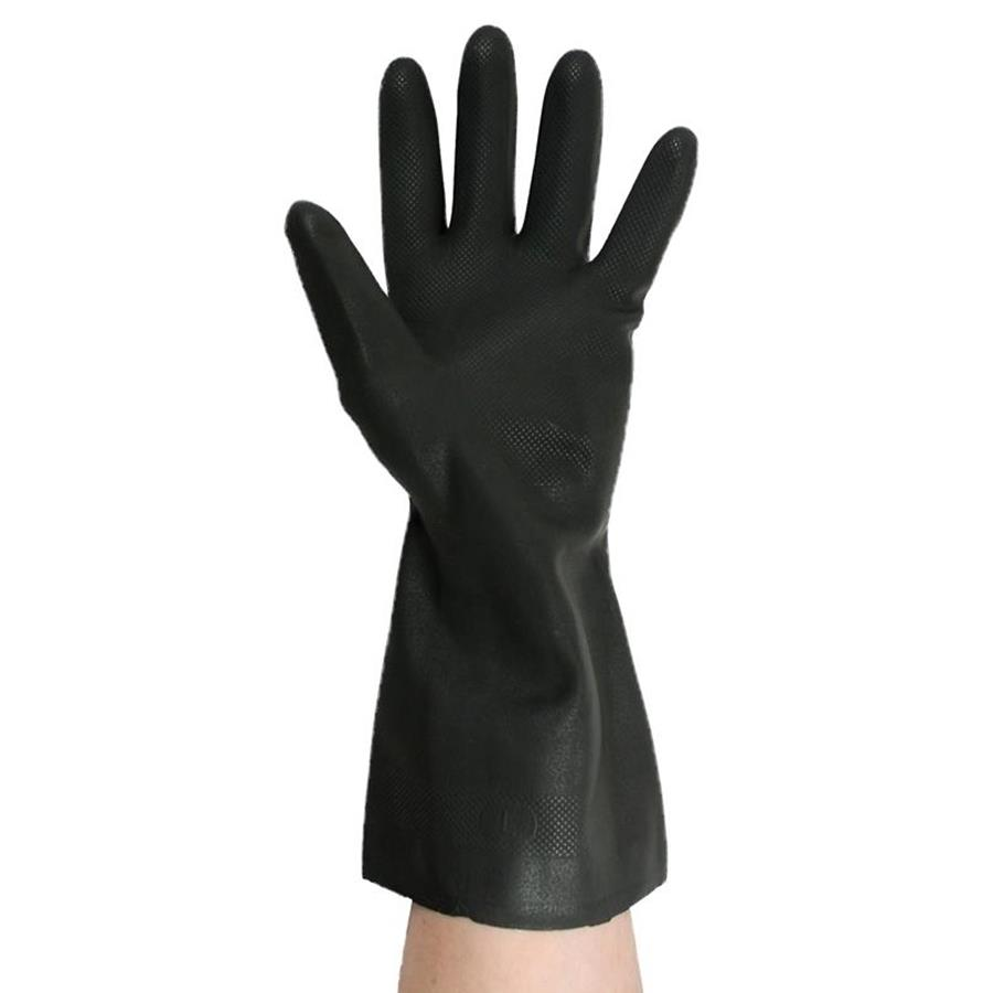 Black Polychloroprene Rubber Gloves
