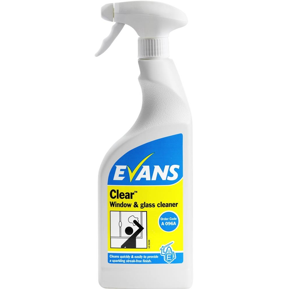 Evans Clear Glass Cleaner - Trigger