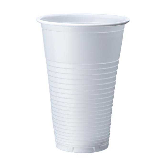 White Plastic Disposable Drinking Cup