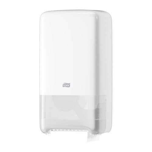 Tork Twin Mid-Size Toilet Roll Dispenser - White